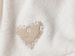 Picture of Heart Warming Embroidered HAND TOWEL 30x45 cm Ekru