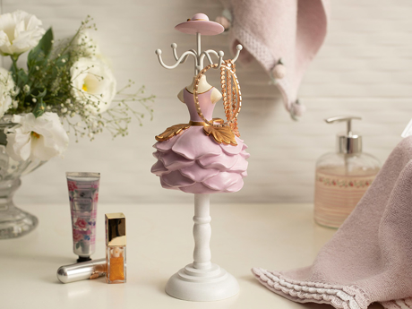 Picture of Ball Gown JEWELRY HOLDER Pembe