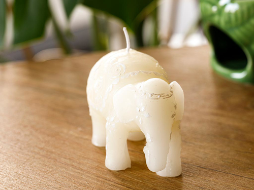Picture of Elephant Candle 11X5X7,5 cm White