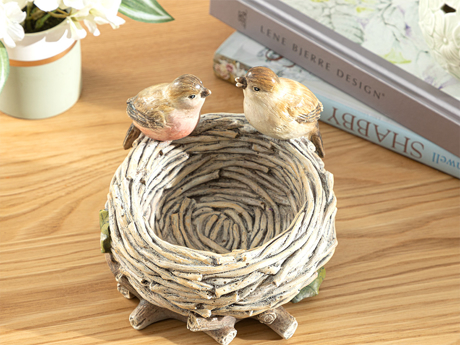 Picture of Birds Decorative Object Brown,